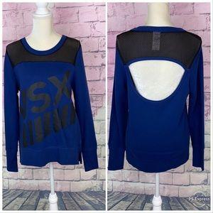 Victoria's Secret Tops - Victoria's Secret Sport navy sweatshirt with mesh